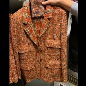 Authentic Chanel blazer and skirt